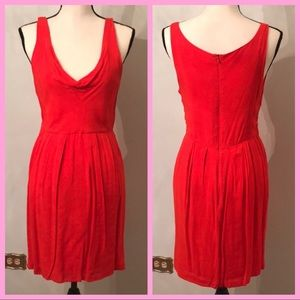 BB DAKOTA | Red Cowlneck Sleeveless Dress